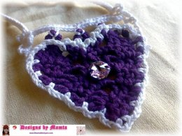 Crochet Diamond Heart Necklace Pattern Unique Crochet Jewelry