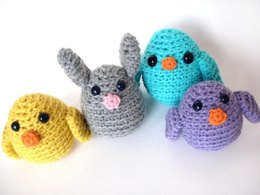 Amigurumi Easter chick and bunny