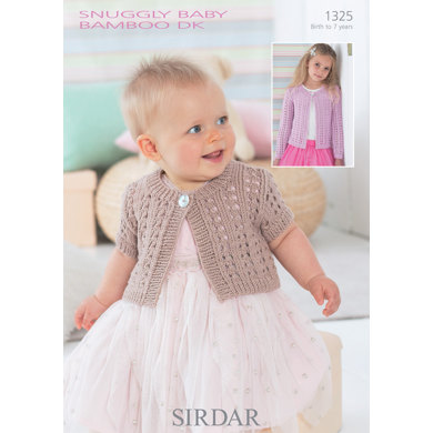 Sirdar Knitting Pattern Abbreviations : Cardigans in Sirdar Snuggly Baby Bamboo DK - 1325 - Downloadable PDF