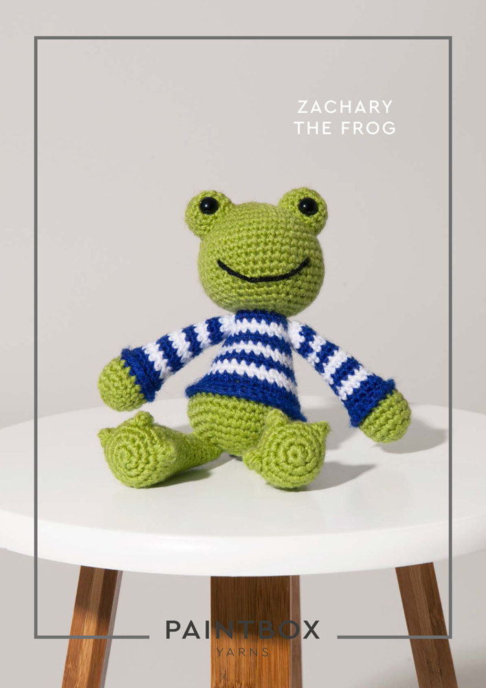 Zachary The Frog In Paintbox Yarns Simply Dk Dk Cro Toy 011