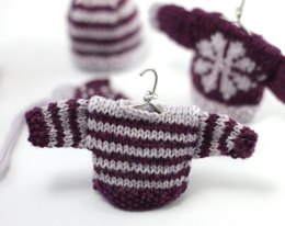 Christmas Glamour Striped Mini Sweater Decoration