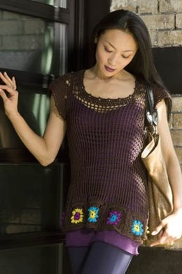 Buenos Aires Crochet Tunic in Tahki Yarns Cotton Classic Lite