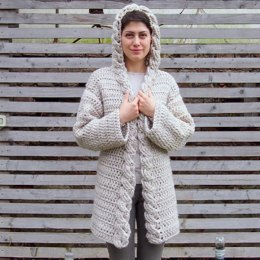 Very Winter hooded cardigan