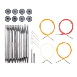 KnitPro Nova Cubics Interchangeable Needle Tips (Deluxe Set of 7)