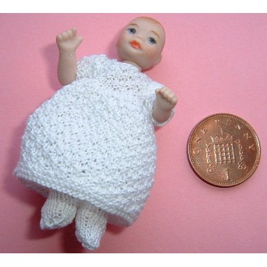 1:12th scale Baby dress and tights