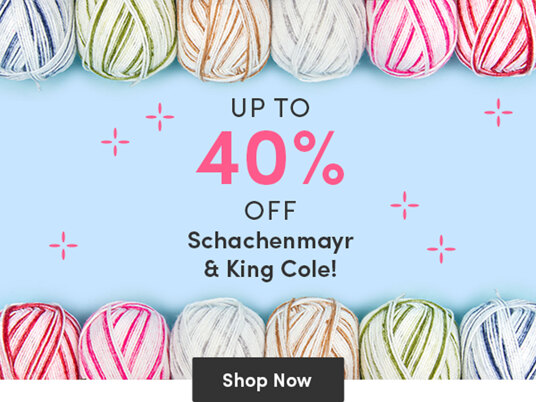 Up to 40 percent off Schachenmayr & King Cole!