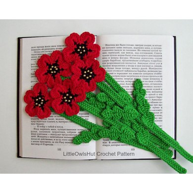 Poppy bookmark or decor