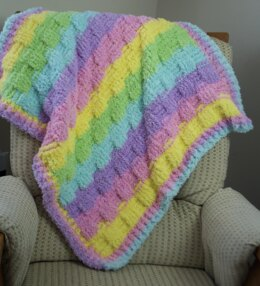 EASY BEGINNER'S Basket Weave Baby Blanket