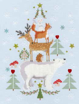 Bothy Threads Snowy Stack Cross Stitch Kit - 22cm x 28cm