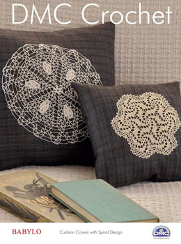 Spiral Cushion Covers in DMC Babylo Crochet Thread No. 30 - 15335L/2 - Leaflet