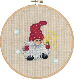 Permin Elf with Candle Cross Stitch Kit