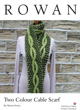 Two Colour Cable Scarf in Rowan Big Wool