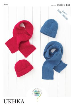 Hats and Scarves in King Cole Aran - UKHKA141pdf - Downloadable PDF