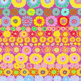 Kaffe Fassett Row Flowers Cut to Length - Pink