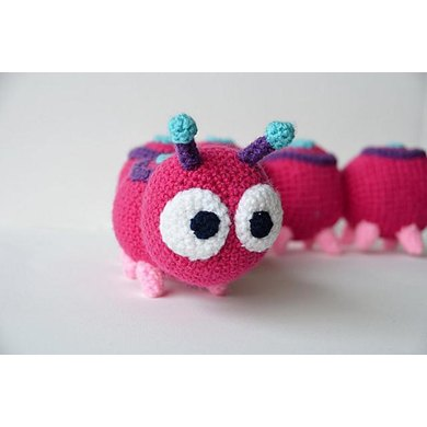 Absolom the Caterpillar Crochet Pattern, Centipede Amigurumi, Caterpillar Amigurumi