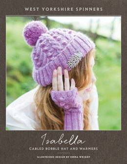 Isabella Cabled Bobble Hat and Warmers in West Yorkshire Spinners Illustrious - DBP0028 - Downloadable PDF