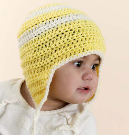 Crochet Child's Earflap Cap in Red Heart Designer Sport - WR1088 - Downloadable PDF