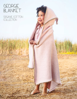 Georgie Blanket in Blue Sky Fibers Worsted Cotton - 2812 - Downloadable PDF