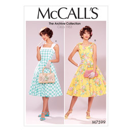 McCall's Misses' Lined Flared Dresses with Petticoat M7599 - Sewing Pattern