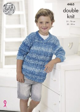 Sweater in King Cole Vogue DK - 4465 - Downloadable PDF