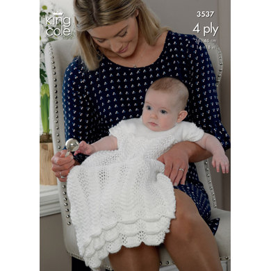 Christening Set in King Cole Comfort 4 Ply - 3537