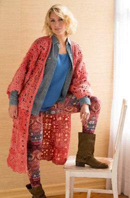 Long & Lacy Duster in Red Heart Boutique Infinity - LW4639 - Downloadable PDF
