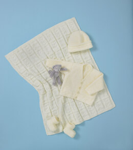 Babies Cardigan, Hat, Bootees & Blanket in King Cole DK in King Cole - 5563 - Leaflet