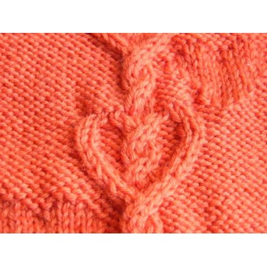 Hearts entwined scarf