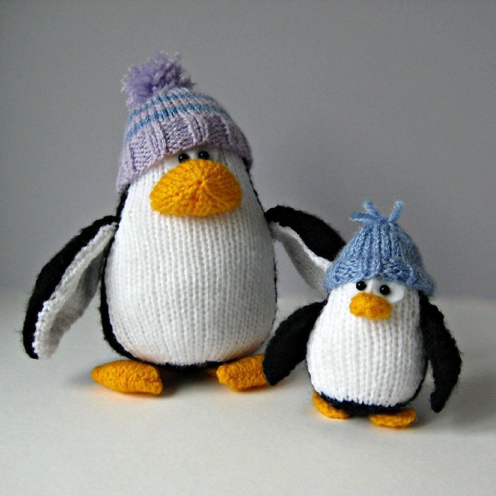 Bobble And Bubble Penguins Knitting Pattern By Amanda