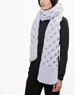 Love Buzz Scarf in Wool and the Gang Crazy Sezy Wool - Downloadable PDF
