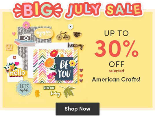 Up to 30 percent off selected products by American Crafts!