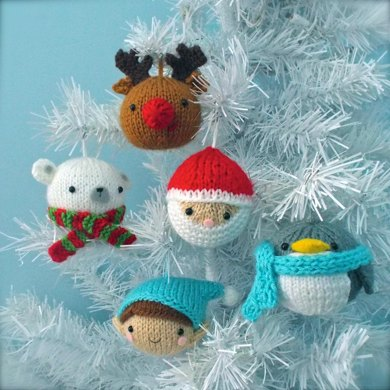 Christmas Balls Knit Ornament Pattern Set - Christmas Balls Knit Ornament Pattern Set Knitting Pattern By Amy Gaines