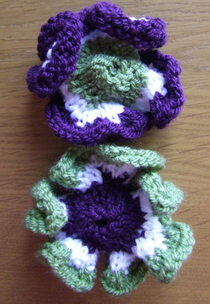 Hyperbolic Knitted Flowers Suffragette Knitting Project By Craftyg