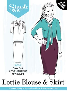 Simple Sew Patterns The Lottie Blouse & Skirt #002 - Sewing Pattern