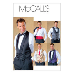 McCall's Men's Lined Vests, Bow Tie and Cummerbund M4321 - Sewing Pattern