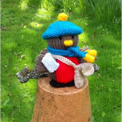 Postman Robin with Mailbag & Knitted Letter + Bedtime Accessories