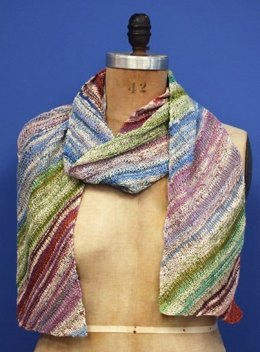 Diagonal Summer Multicolor Scarf in Classic Elite Yarns Bella Lino
