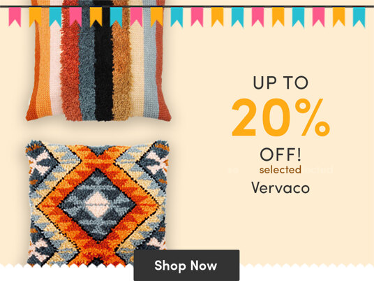 Up to 20 percent off selected Vervaco stitching kits!
