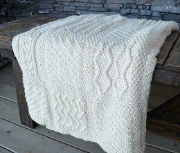 Seamless Knit Square Afghan