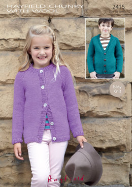 Cardigans in Hayfield Chunky with Wool - 2415 - Downloadable PDF