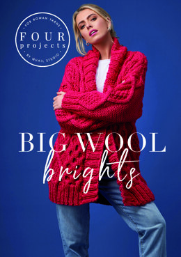 Rowan – 4 Projects Big Wool Brights by Quail Studio