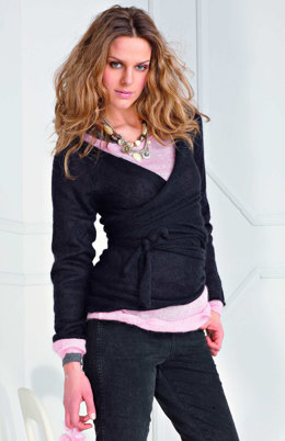 Wickeljacke in Austermann Kid Silk - 27 - Downloadable PDF