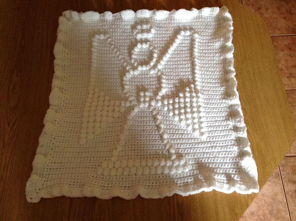 Angel baby blanket crochet pattern by the baby crow knitting angel baby blanket dt1010fo