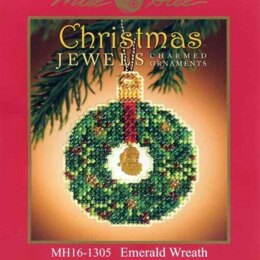 Mill Hill Emerald Wreath Cross Stitch Kit - Multi