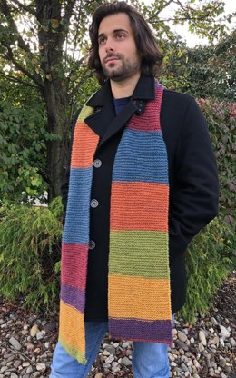 Man's Scarf in Plymouth Yarn - F831 - Downloadable PDF