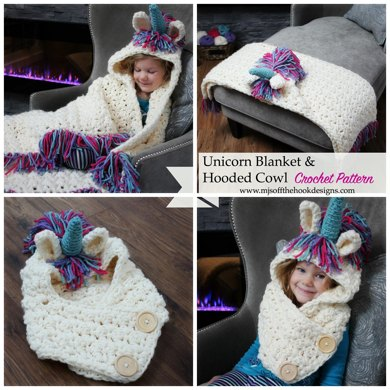 Bulky & Quick Unicorn Blanket /Cowl