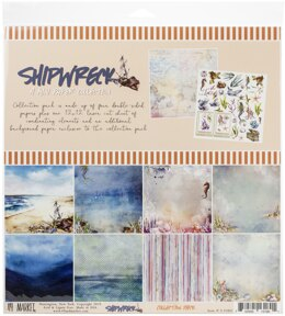 """49 And Market Collection Pack 12""""X12"""" - Shipwreck"""