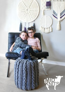 Crochet Cable Footstool (2015024)