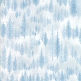 Moda Fabrics Forest Frost Glitter II Winter Metallic Trees Icy Light Blue