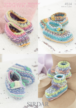 Shoes in Sirdar Snuggly Baby Crofter DK - 4514